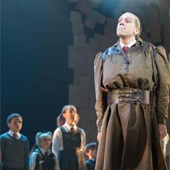 Alex Gaumond as Miss Trunchbull in Matilda The Musical in London