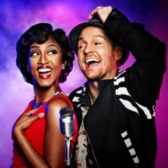 Beverley Knight and Killian Donnelly in Memphis The Musical. Photo: Matt Crockett
