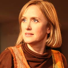 Jenna Russell in Merrily We Roll Along at the Menier Chocolate Factory. Photo: Roy Tan