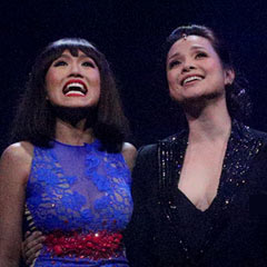 Kim United: Eva Noblezada and Lea Salonga perform at the Miss Saigon anniversary gala. Photo: Roy Tan