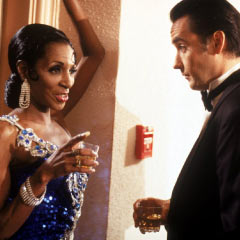 The Lady Chablis and John Cusack in the 1997 film version of Midnight in the Garden of Good and Evil