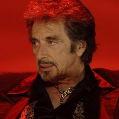 "Al Pacino as King Herod in recent movie ""Wilde Salome"""