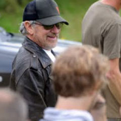 Steven Spielberg on the set of War Horse
