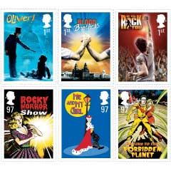 Royal Mail Musicals Stamps set