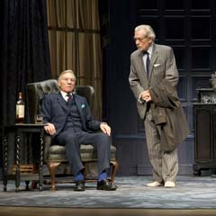 Ian McKellen and Patrick Stewart in No Man's Land on Broadway