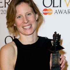 Thea Sharrock picks up the Best Revival award for her production of After the Dance at the National Theatre