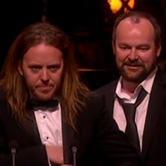 Matilda creators Dennis Kelly and Tim Minchin
