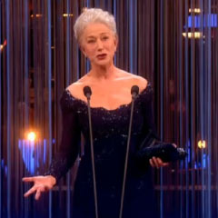Helen Mirren, best actress winner at the 2013 Olivier Awards