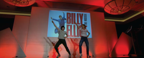 2013 Olivier Audience Award winners Billy Elliot perform during the Olivier Awards announcement