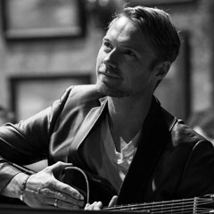 Ronan Keating in rehearsals for ONCE. Photo by Matt Crockett.