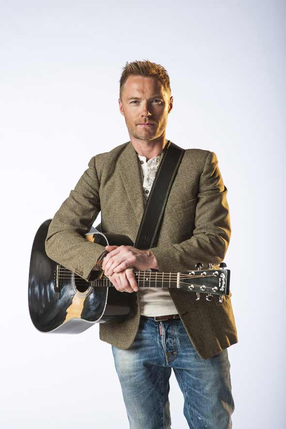 Ronan Keating as Guy in Once The Musical. Photo by Hugo Glendinning