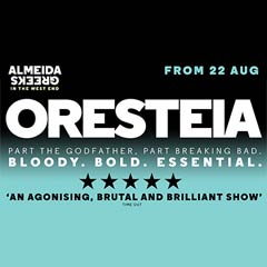 Oresteia starring Lia Williams and Jessica Brown Findlay at the Trafalgar Studios.