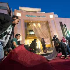 Rolling out the red carpet for this year's Oscars, outside the Dolby Theater in LA