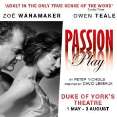 Passion Play at the Duke of York's Theatre starring Zoe Wanamaker