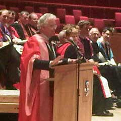 Bill Kenwright receiving his honorary degree