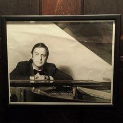 A picture of Jimmy Hardwick on the wall of Joe Allen restaurant. Photo: Joe Allen