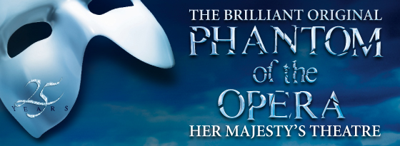 New-look poster for The Phantom of the Opera's 25th anniversary