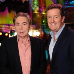 Andrew Lloyd Webber and Piers Morgan