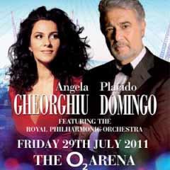 Placido Domingo and Angela Gheorghiu at The O2 Arena