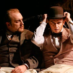 Alexander Gemignani and Michael Cerveris in the New York production of Road Show