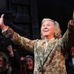 Tommy Steele as Scrooge. Photo: Roy Tan