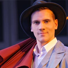 Adam Cooper in Singin' in the Rain at the Palace Theatre