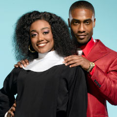Patina Miller and Simon Webbe in Sister Act