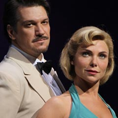 Samantha Womack and Paulo Szot in South Pacific. Photo: Roy Tan
