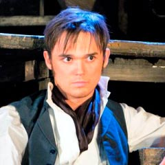 Gareth Gates in Les Miserables - on the short list for the Olivier Audience Award