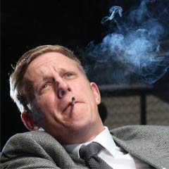 Laurence Fox in Strangers on a Train. Photo: Roy Tan