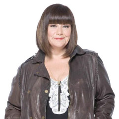 Dawn French, a judge on ITV's SUPERSTAR