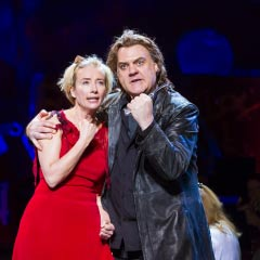 Emma Thompson and Bryn Terfel in the recent New York Philharmonic production of Sweeney Todd. Photo: Chris Lee