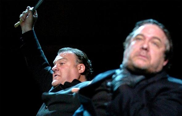 Bryn Terfel and Philip Quast in the Royal Festival Hall production