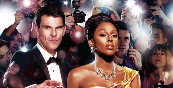 Tristan Gemmill and Alexandra Burke in The Bodyguard