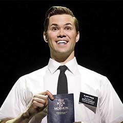 Andrew Rannells as Elder Price in the Broadway production of The Book of Mormon