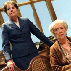 Penelope Wilton and Margaret Tyzack in The Chalk Garden at the Donmar