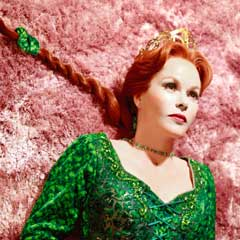 Amanda Holden as Princess Fiona in Shrek, part of The Half exhibition. Photo: Simon Annand