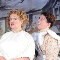 Natalie Casey (right) and Maria Friedman in The Invisible Man
