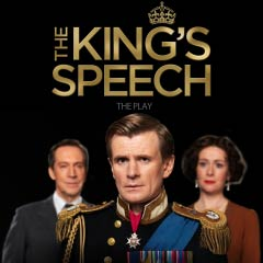 Charles Edwards as George VI, Jonathan Hyde as Lionel Logue and Emma Fielding as Queen Elizabeth in The King's Speech