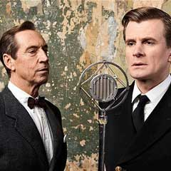 Charles Edwards as George VI and Jonathan Hyde as Lionel Logue in The King's Speech
