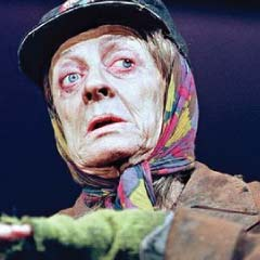 Maggie Smith in the West End production of The Lady in the Van