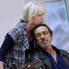 Joanna Lumley and Robert Lindsay rehearse The Lion in Winter