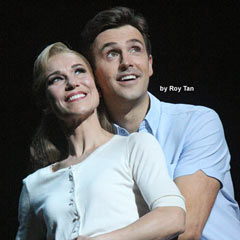 Joanna Riding and Michael Xavier in The Pajama Game. Photo: Roy Tan