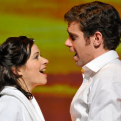 Matthew Goodgame and Helen Anker in musical The Thorn Birds
