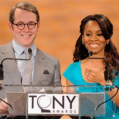 Matthew Broderick and Anika Noni Rose present the Tony nominations