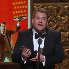 James Corden accepts the Tony Award for Best Actor