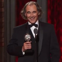 Mark Rylance, picking up his 2014 Tony Award