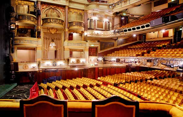 Theatre Royal Drury Lane - Auditorium from the Royal Box. Unseen London by Mark Daly, photography by Peter Dazeley. Published by Frances Lincoln, £30.