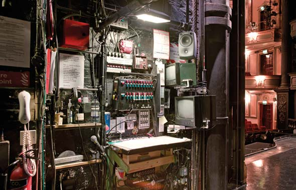 The Prompt Desk, stage left at Her Majesty's Theatre. Unseen London by Mark Daly, photography by Peter Dazeley. Published by Frances Lincoln, £30.