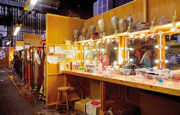 The girls' quick-change area, backstage at the Theatre Royal Drury Lane. Unseen London by Mark Daly, photography by Peter Dazeley. Published by Frances Lincoln, £30.